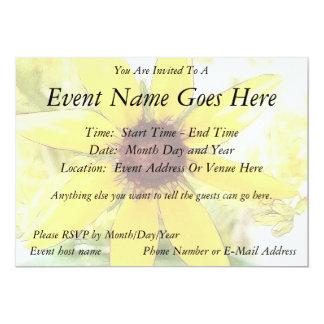 "Black Eyed Susan Bouquet 5"" X 7"" Invitation Card"