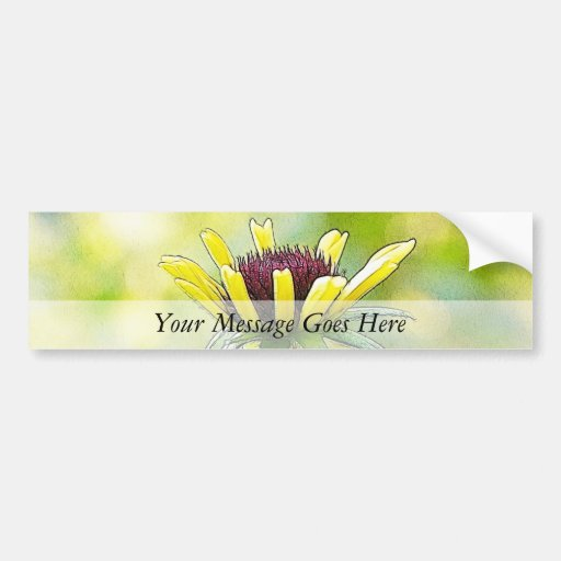 Black Eyed Susan Bud In Profile Bumper Stickers