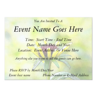 Black Eyed Susan Bud In Profile Personalized Invites
