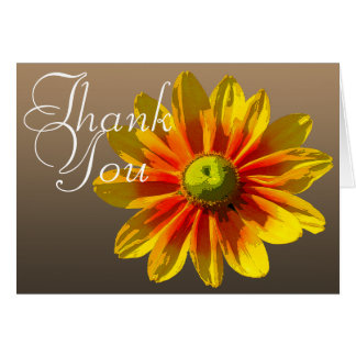 Black-Eyed Susan Color Photo Chic Floral Thank You Note Card