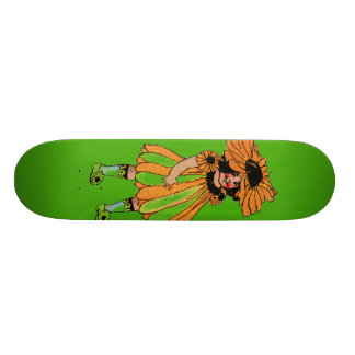 Black-Eyed Susan Custom Skate Board