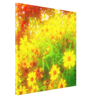 'Black-Eyed Susan Field' Wrapped Canvas Print