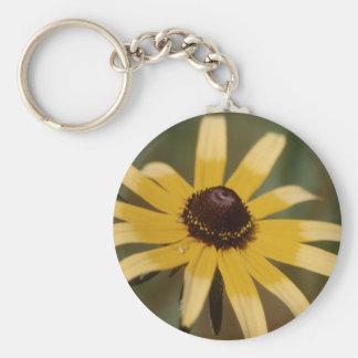Black eyed susan flower keychains