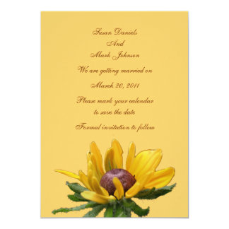 Black Eyed Susan Flower Wedding Save The Date 13 Cm X 18 Cm Invitation Card