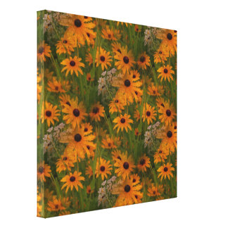 Black Eyed Susan Flowers Gallery Wrapped Canvas