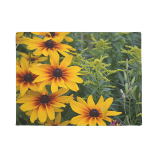 Black eyed susan flowers doormat