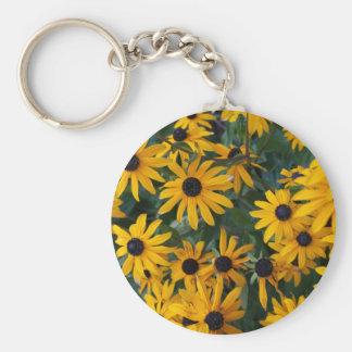Black-eyed Susan Flowers Keychain