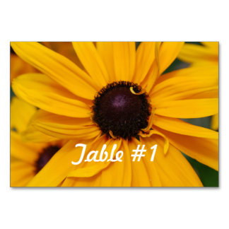 Black Eyed Susan Flowers Table Cards