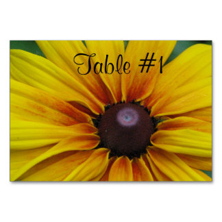 Black Eyed Susan Flowers Table Card