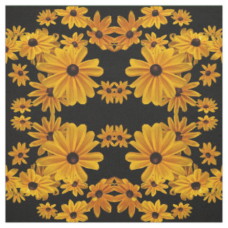 Black Eyed Susan Flowers Yellow Floral Fabric