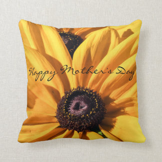 Black Eyed Susan Happy Mother's Day Throw Pillow