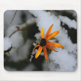 black eyed susan in the first snow mouse mat