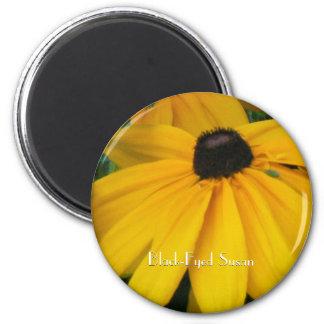 Black-Eyed Susan 6 Cm Round Magnet