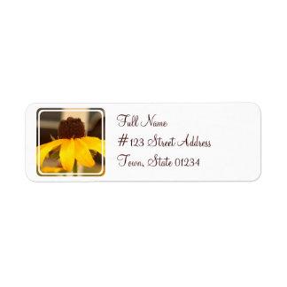 Black Eyed Susan Mailing Label Return Address Label