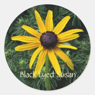 Black Eyed Susan MD Flower Round Sticker
