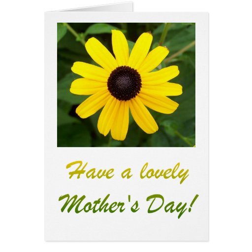 Black-eyed Susan Mother's Day Card