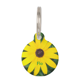 Black Eyed Susan Pet Tag