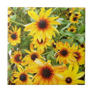 Black Eyed Susan Small Square Tile