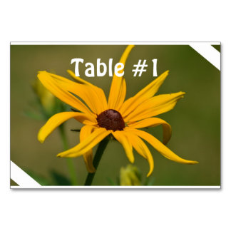 Black Eyed Susan Solitude Table Card