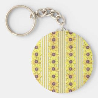 Black Eyed Susan Stripes Keychain