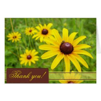 Black Eyed Susan Thank You Card