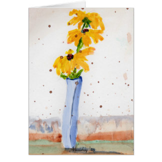 Black Eyed Susan water color card