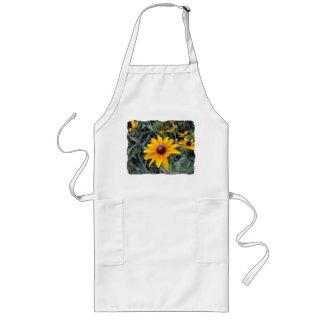 Black-Eyed Susan White Gardening Apron