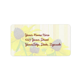 Black-Eyed Susan Wildflower Series Address Label