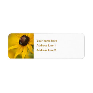 Black-Eyed Susan with a Teardrop Template Return Address Label