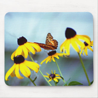 black-eyed susan with butterfly 1 mouse pad