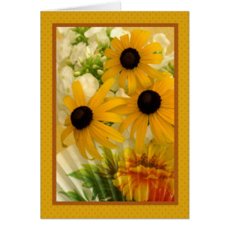 Black-eyed Susan with fan I Greeting Card
