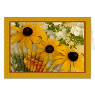Black-eyed susan with fan II Greeting Card