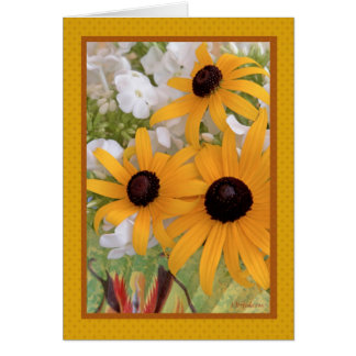 Black-eyed Susan with green fan Greeting Card