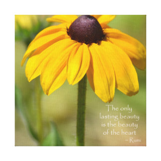 Black Eyed Susan with Quote by Rumi Canvas Prints