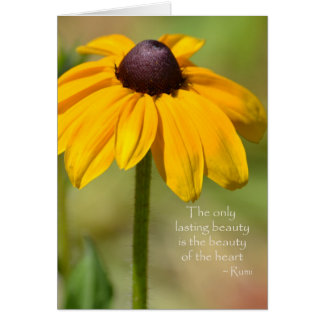 Black Eyed Susan with Quote Greeting Card