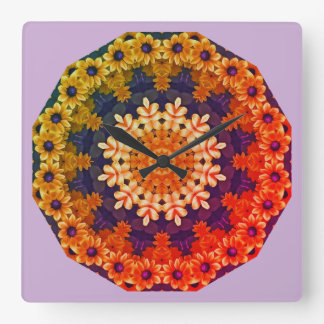 Black-eyed Susans 01.01F Nature, Flower-Mandala Wallclock