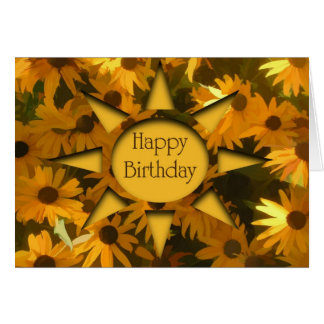 Black Eyed Susans Birthday Card