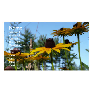 Black eyed Susans Business Card Templates