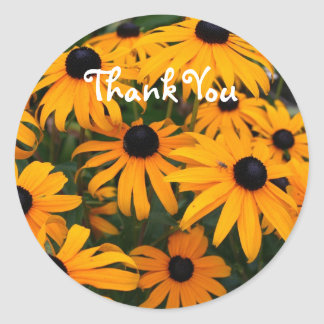 Black Eyed Susans Classic Round Sticker