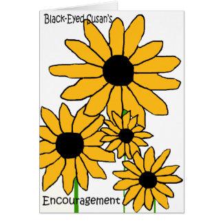 Black-Eyed Susan's Encouragement blank card
