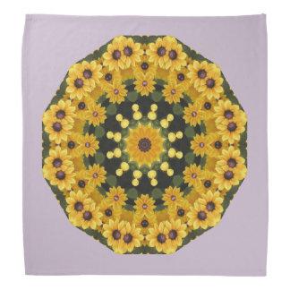 Black-eyed Susans,  Floral Mandala Bandana