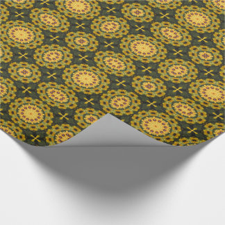 Black-eyed Susans, Floral mandala-style 02.2 Wrapping Paper