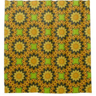 Black-eyed Susans, Floral mandala-style 02.3 Shower Curtain