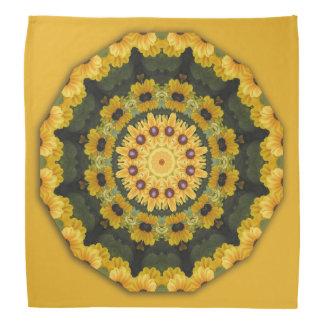 Black-eyed Susans, Floral mandala-style Bandana