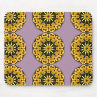 Black-eyed Susans, Floral mandala-style Mouse Pad