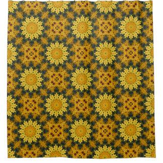 Black-eyed Susans, Floral mandala-style Shower Curtain