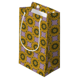 Black-eyed Susans, Floral mandala-style Small Gift Bag