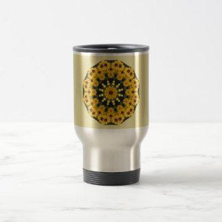 Black-eyed Susans,  Floral Mandala Travel Mug