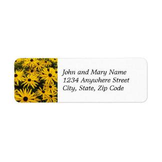 Black Eyed Susans Floral Return Address Label