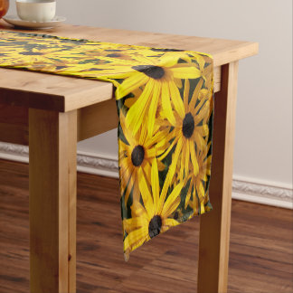 Black Eyed Susans Floral Short Table Runner